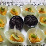 Фюжън сиренца с корнфлейкс със сладко от боровинки